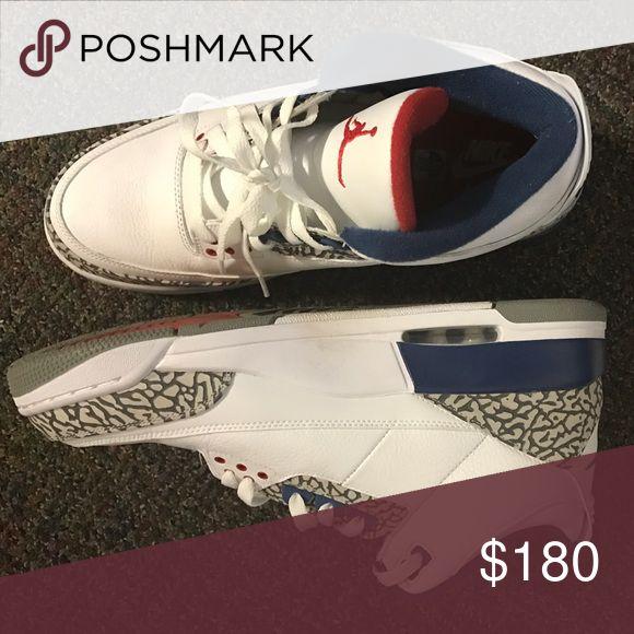 "Jordan Retro 3's Jordan Retro 3's ""True Blue"" Jordan Shoes Athletic Shoes"