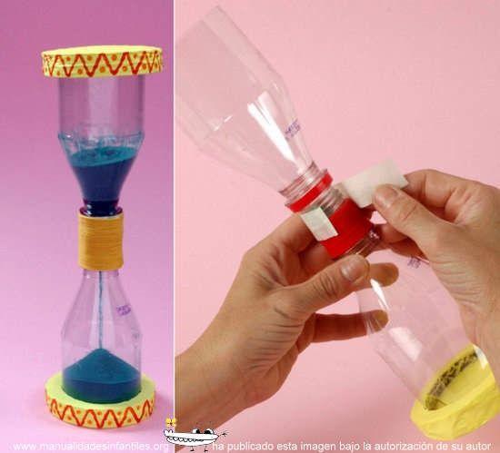 como hacer un reloj de arena casero