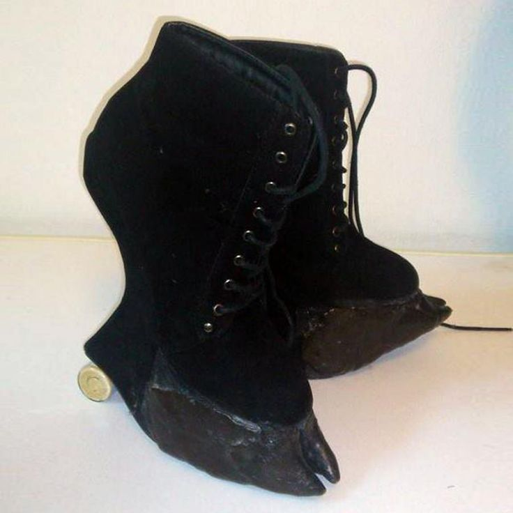 Alina made a pair of Satyr boots with Plastimake hooves ...