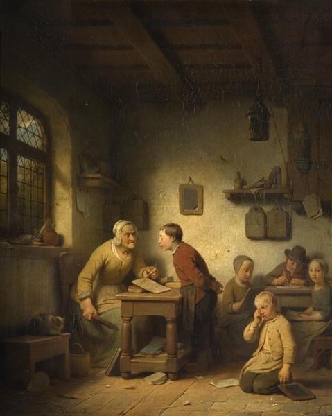 """""""Belgian School"""", 1853. Adrien Ferdinand de Braekeleer (1818 - 1904)"""