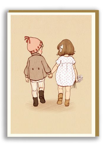 Belle and Boo Together Greetings Card Sold in 6's | NINETEEN SEVENTY THREE