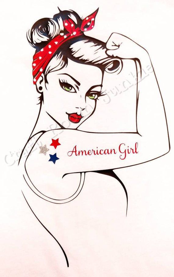 Custom American Girl Rosie T-Shirt Or Tank Top  Strong -9151