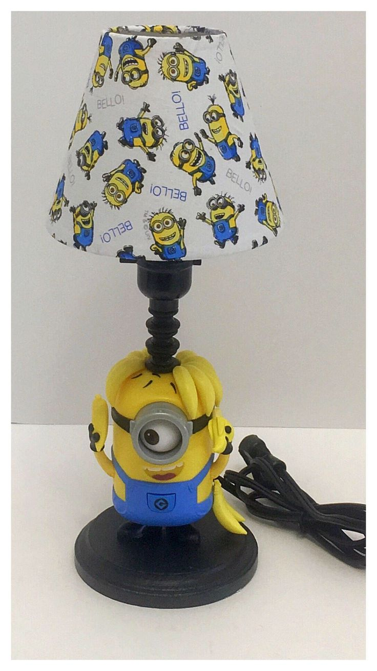 A personal favorite from my Etsy shop https://www.etsy.com/listing/536643765/crazy-carl-minion-lamp