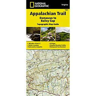 The Damascus to Bailey Gap Topographic Map Guide makes a perfect traveling companion when traversing the southwest Virginia section of the Appalachian Trail (A.T.). The A.T. in southwest Virginia trav