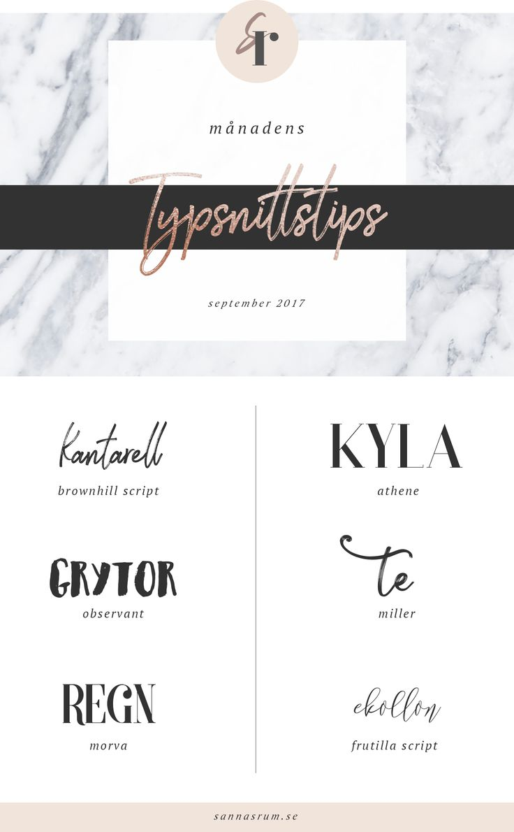 Typsnittstips – september / Font tips / Fonts