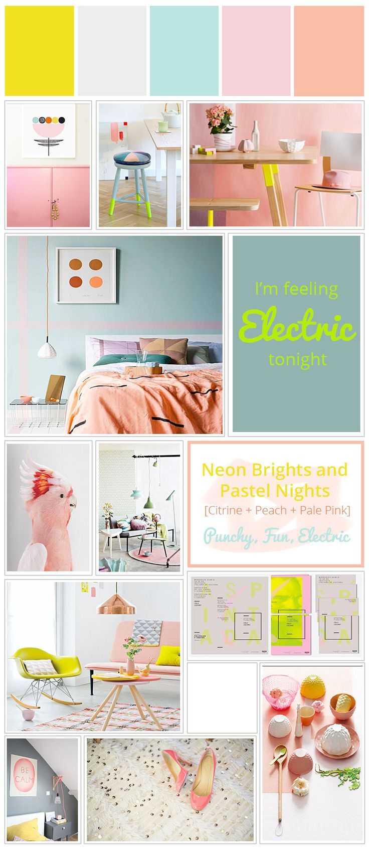 Color Story | Neon Brights and Pastel Nights #stylyze #brightsummercolors…