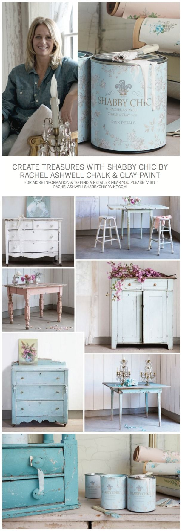 Recreating the Shabby Chic Look with Chalk and Clay Paint