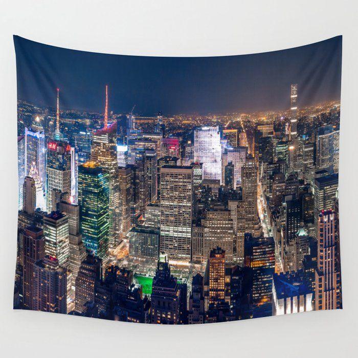 New York City Skyline Wall Tapestry By Groppo Small 51 X 60 In 2020 Tapestry Wall Tapestry New York City