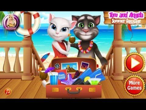 Tom And Angela Summer Luggage - Talking Tom Game Tutorial 2016