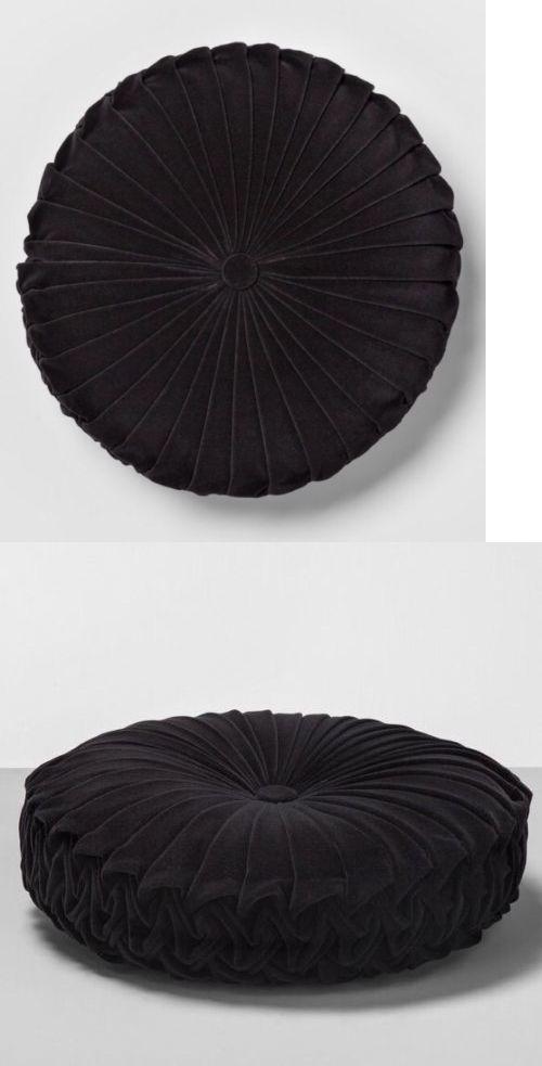 Decorative Bed Pillows 115630 1 Target Opalhouse Velvet Black Round