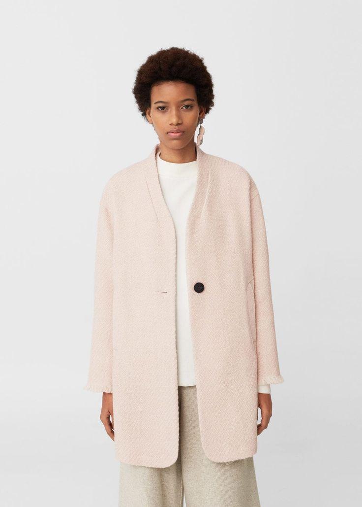 Manteau déstructuré en laine | MANGO
