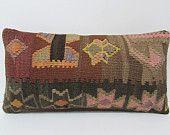 decorative pillow kilim lumbar pillow rustic pillow case bohemian bedroom kilim fabric modern pillow cover throw pillow kilim pillow 22959