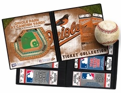 Baltimore Orioles Ticket Album - A Ticket Album is a photo album for your tickets and allows you to create a table-top display that will keep the memories of the games you've attended as fresh as the day you were there. Also makes an ideal item to present tickets as a gift. www.thatsmyticket.com