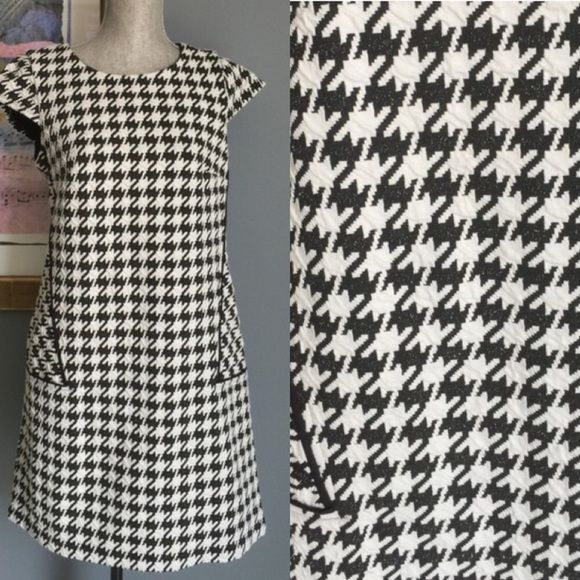 ✨SALE✨ Rabbit Rabbit Rabbit Petite Dress Houndstooth dress from Rabbit Rabbit Rabbit .  Features a long hidden back zipper , fully lined , measures 34.5 inches from shoulder to hem .   Made of 63% cotton/35%polyester/2% spandex .  This is size 10P .  NWOT Rabbit Rabbit Rabbit Petite Dresses
