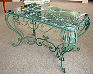 French Antique Louis XV Style Wrought Iron Coffee Table