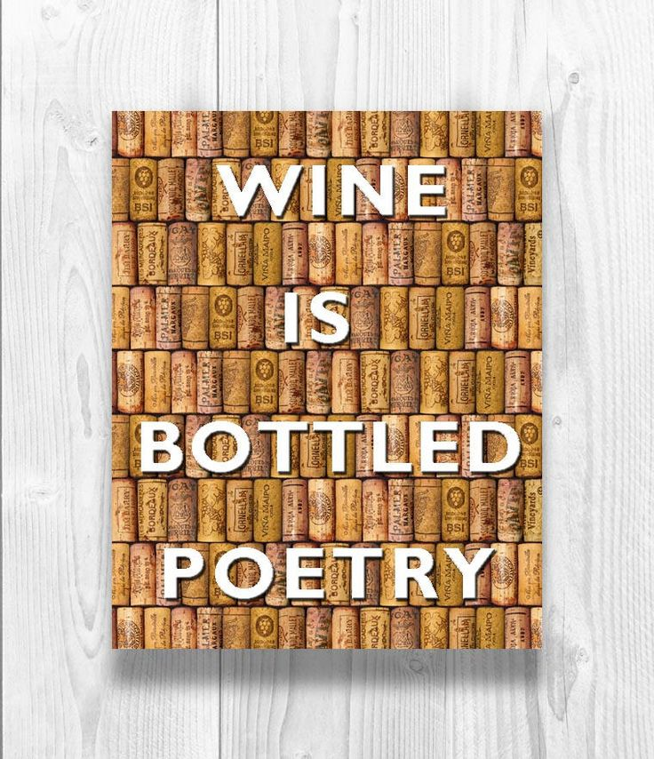Wine is Bottled Poetry Quote, over digital corks background, Kitchen decor, Gift for wine lovers, Wine Quote Poster, Wine Gifts by DigitalArtLand on Etsy