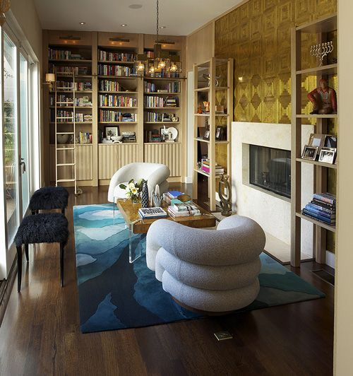 .: Dreams Bedrooms, Living Rooms, Chairs, Book Nooks, Cuffhom Interiors Bookshelves, Modern Libraries, Libraries Rooms, Rugs, Wendy Schwartz