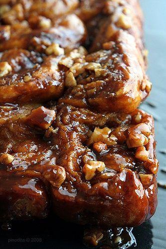 Sticky Walnut Caramel Cinnamon Rolls