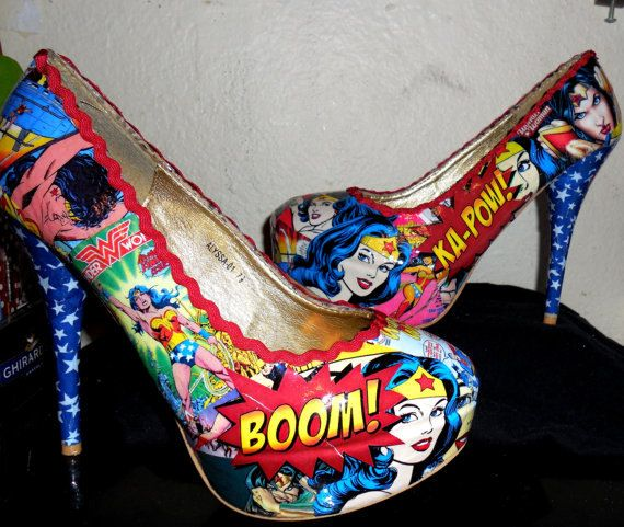( Love these, loved Wonder Woman since I was little! ASW) Wonder Woman High Heels