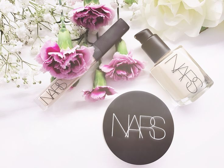Reviews and Swatches of Nars foundation, powder, and concealer