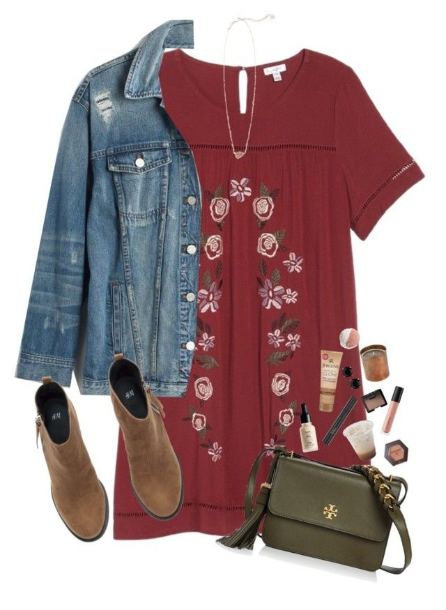 """""""denim contest"""" by sophie-dye ❤ liked on Polyvore featuring love, FiRE, Madewell, H&M, Tory Burch, NYX, Christian Dior, Jergens, Kate Spade, Bare Escentuals and NARS Cosmetics"""