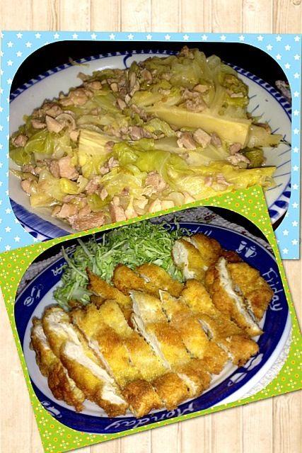 春キャベツ甘ーいね(^^) ミラノ風カツレツは最後にバター - 5件のもぐもぐ - ミラノ風カツレツ春キャベツ煮 by KyonKyon1110