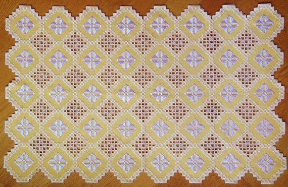 Maral's Daisy Hardanger by MaralEmbriodery on Etsy, $50.00