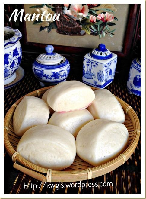 """Chinese Steamed Bread–Mantou (刀切馒头)   A healthy #Chinese_steamed_bun for every one to try. It is fast and comprises only 3 ingredients (yeast, flour and water)"""