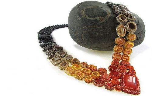 Fade Out Necklace, Orange to Black | Flickr - Photo Sharing!