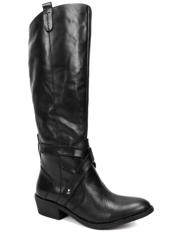 Dolce Vita Women's Clinton Riding Boots High Shaft Black Leather Size 7.5 M #DolceVita #RidingEquestrian #DressCasual
