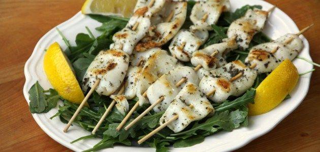 Жареные на шпажках кальмары с домашним соусом айоли – Вся Соль - кулинарный блог Ольги Баклановой
