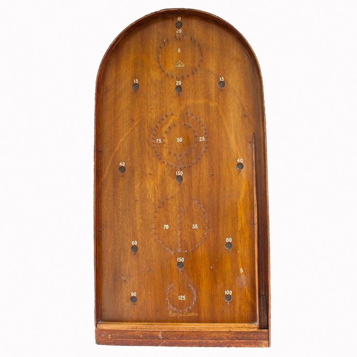 Full of character, this vintage wooden bagatelle game board was originally priced at 21 shillings. Available from  Vintage Matters.