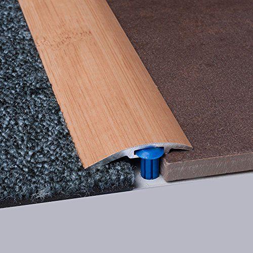 Laminat-Ausgleichsschiene Bambus Gedämpft Supercomfort 900 mm, für 4 - 14 mm Höhenunterschied