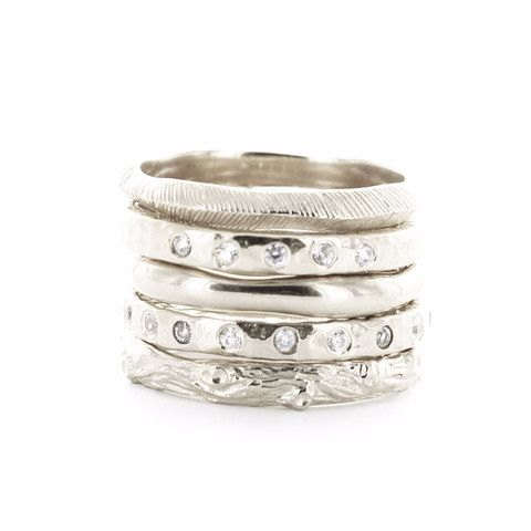 BRAVE | ENDEAR | POISE | LOVE | ADORE STACK RINGS & PENDANTS SILVER – So Pretty Cara Cotter