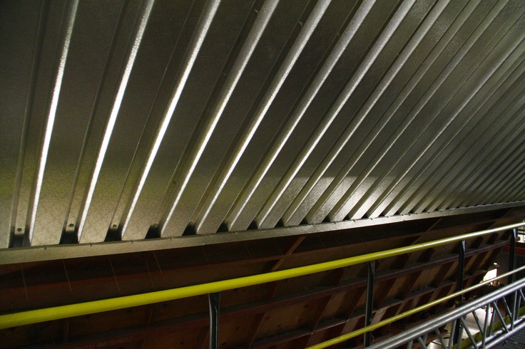Corrugated sheets installed at biomass boiler.