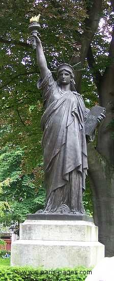 Statue of Liberty, Luxembourg gardens, Paris, France