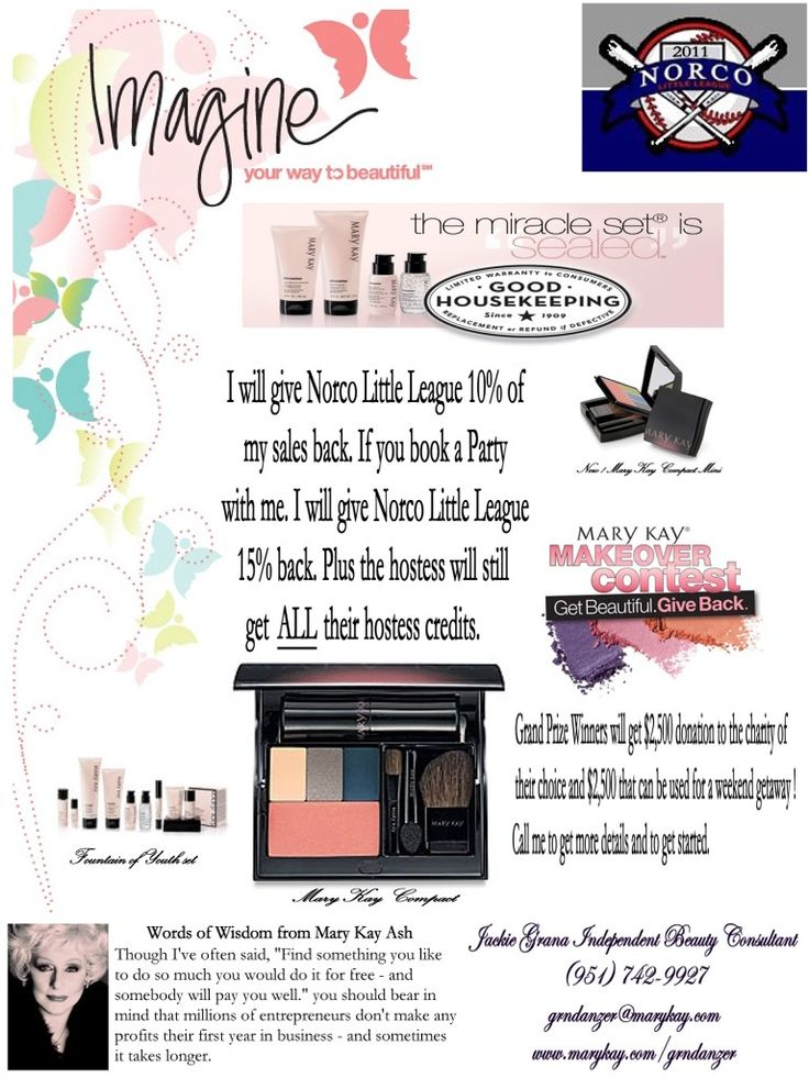 mary kay fundraiser flyers quotes