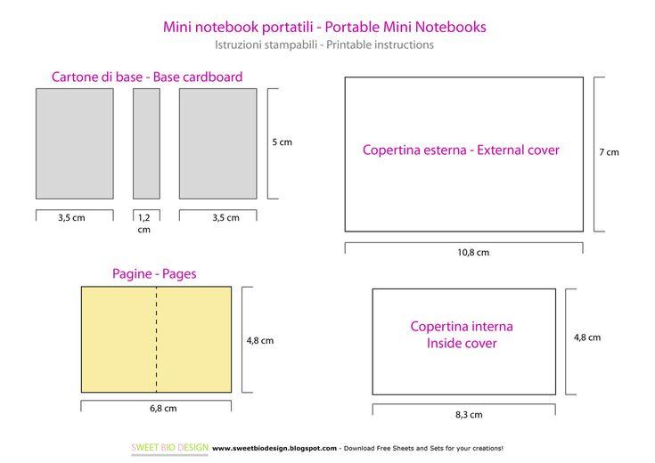 Mini Notebook portatili - DIY Mini notebooks from http://sweetbiodesign.blogspot.it/2015/05/mini-notebook-portatili-diy-mini.html