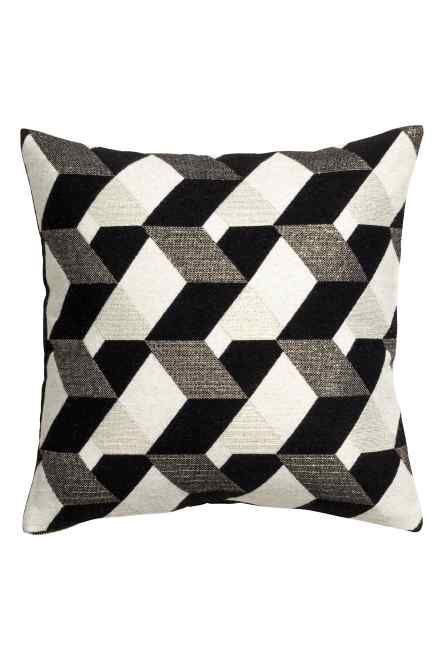 Jacquard Weave Cushion Cover: Cushion Cover With A Jacquard Weave Wool  Blend Containing Glittery Threads On The Front, Cotton Twill On The Back  And A Zip ...