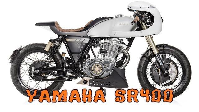 画像: YAMAHA SR400 cafe racer www.youtube.com