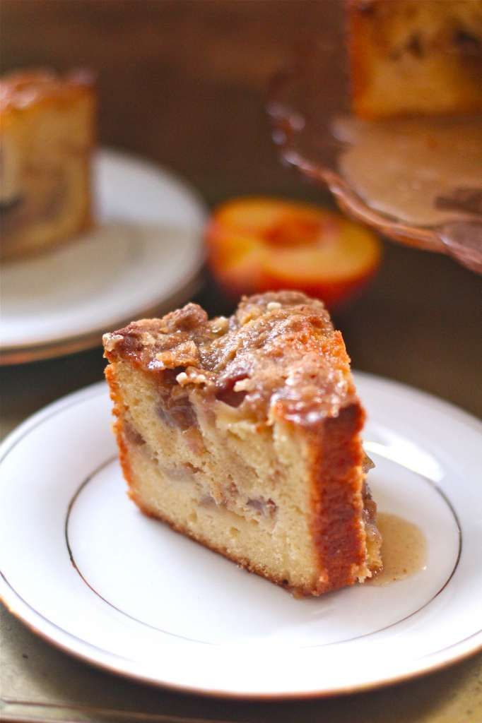 cinnamon greek yogurt coffee cake and finally the pieces of cake ...