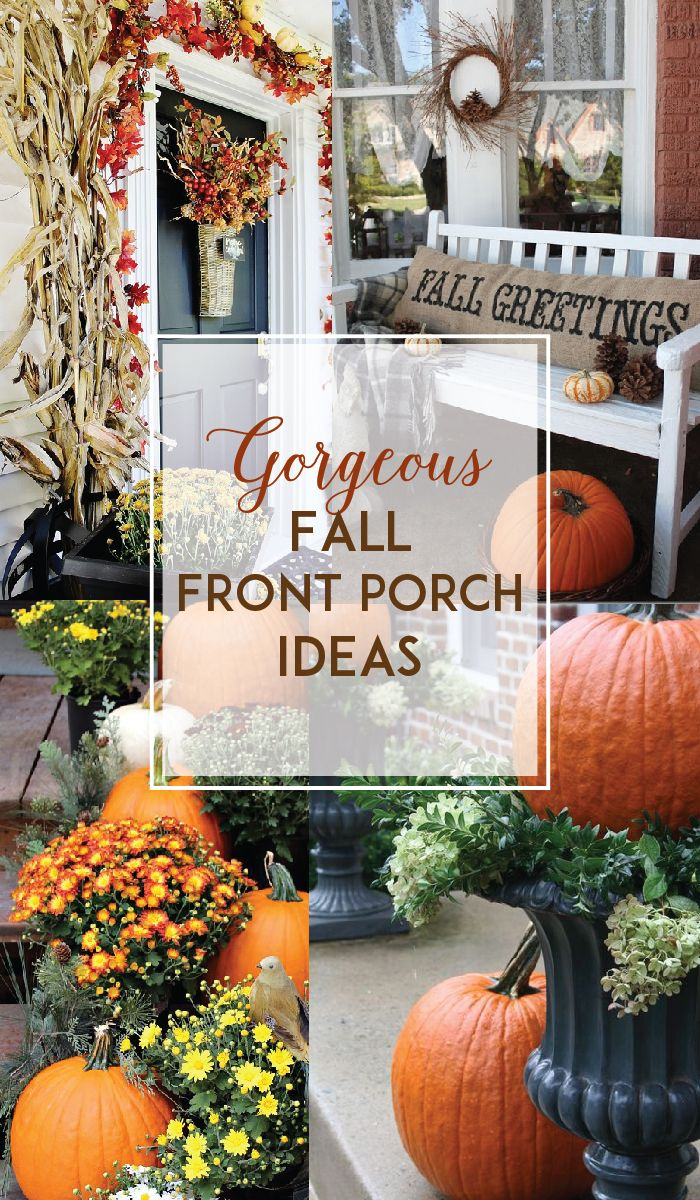 I am eagerly awaiting all the fun changes that come with Fall, especially now that we're in our new house! We are going to get to see all the trees change for the first time (for us anyway) and find new ways to decorate. I don't have a big porch...