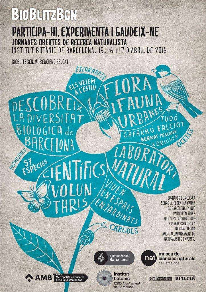 Vuelve BioBlitzBCN, las jornadas ciudadanas de observación e investigación naturalista de flora y fauna de la ciudad de Barcelona