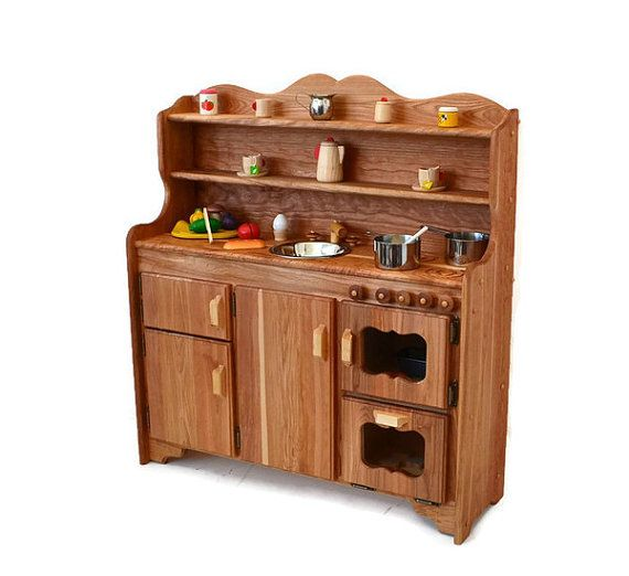 how to build a play kitchen from wood