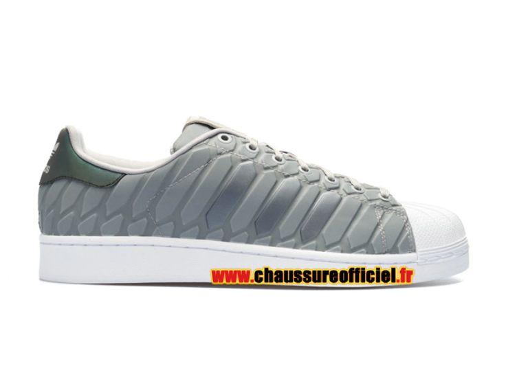 Adidas Superstar Xeno Chaussures Adidas Pas Cher Pour Homme Gris / Blanc d69367