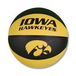 Iowa Hawkeyes 7.25 inch Mini Size Rubber Basketball by NCAA. $12.95. Have fun for hours with this Hawkeyes 7.25 inch mini basketball. Perfect for Hawkeyes fans of all ages. Dribble dunk and score like the actual Iowa team! 7.25 inch diameter Alternating team colored panels with official logos or mascots High quality rubber