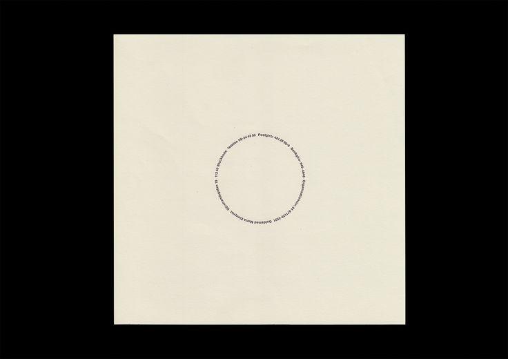 Identitet för guldsmeden Maria Elmqvist. Typografi, stationery med mera, 1992.