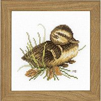 Набор для вышивания крестиком Lanarte PN-0146976 Утенок на отдыхе
