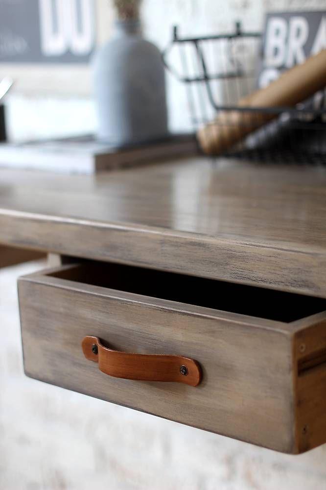 Nábytok - Pracovný stôl INDUSTRY BROWN so šuflíkmi - 6539298_
