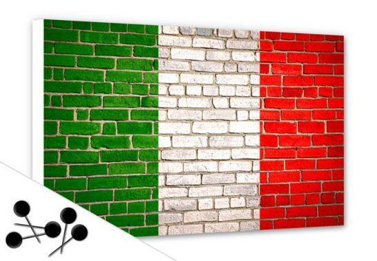 Pinnwand Italienische Flagge von www.wall-art.de